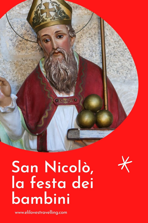 San Nicolò, grafica per Pinterest