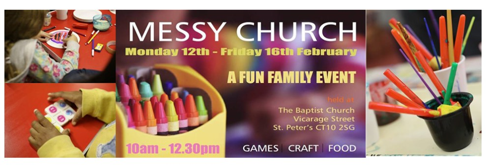 Join us for family fun a the Baptist Church February 12th through 16th