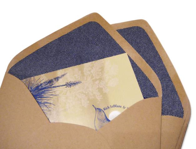 wedding invitation and custom envelopes