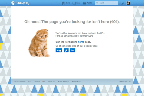 formspring.me 404 Page