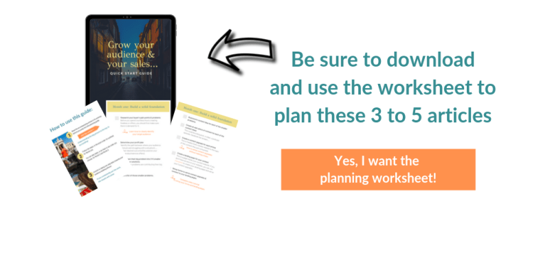 List building planning worksheet