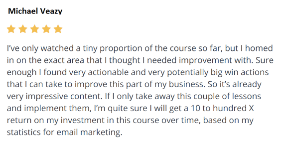 Email Marketing Course review 2