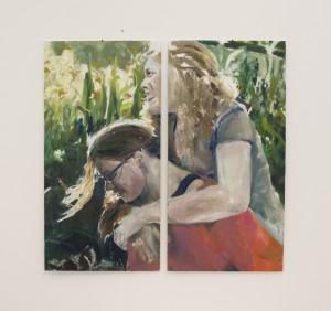 Oil paint, 2017(2x) 25x 60 cm