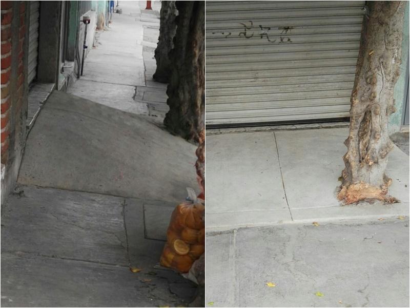 Se quejan por rampas en calles