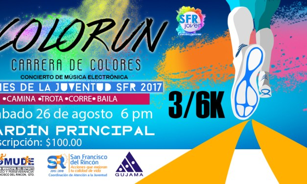 Invitan a primer carrera de colores en San Francisco del Rincón