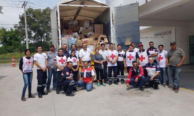 Dobladenses donan 25 toneladas de víveres