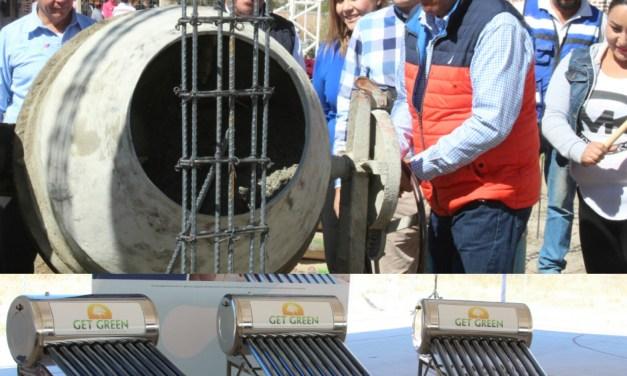 Entrega SEDESHU calentadores solares en Manuel Doblado, y amplía Centro Impulso
