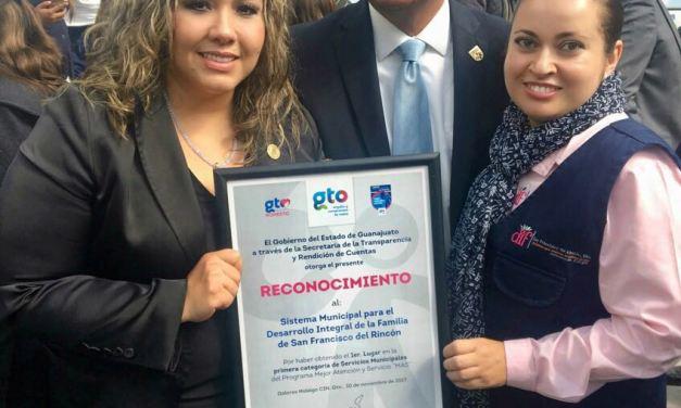 Reconocen atención y servicio de calidad del DIF San Francisco del Rincón
