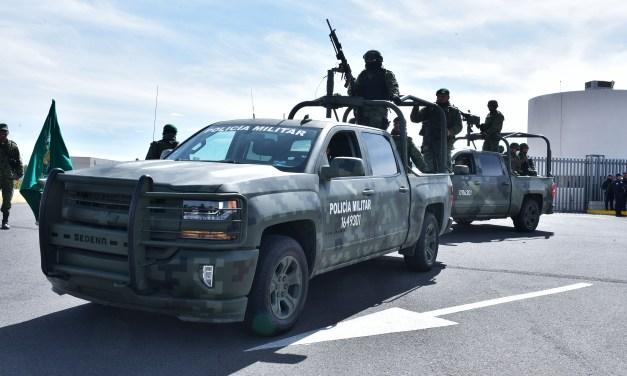 Inician actividades 13 mil policías militares en el estado