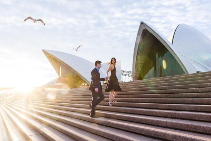 Sofia and Martin's Sydney Harbour Bridge & Opera House Engagement/Prewedding Photo Session
