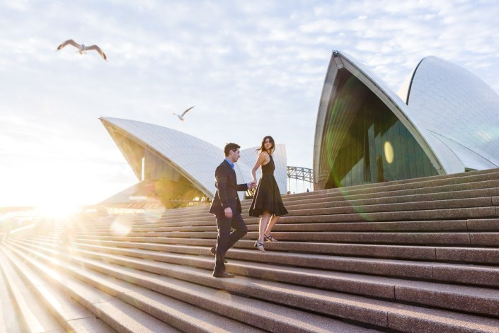 Sofia and Martin's Sydney Harbour Bridge & Opera House Engagement/Prewedding Photo Session