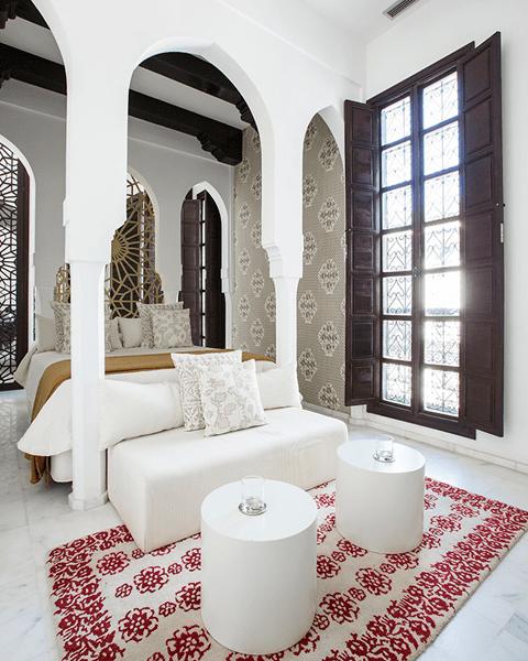 Una habitación del Riad español