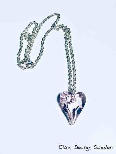 Silverhalsband med Swarovski hjärta Rosaline