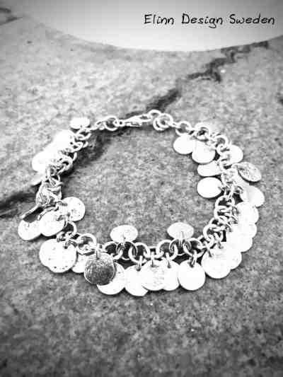 Silverarmband med silvercoins