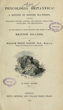 Phycologia Britannica, title page
