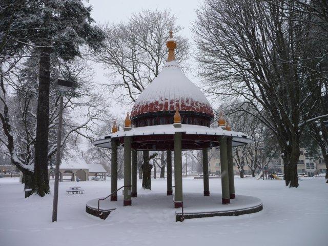 Dawson Park Gazebo Covered in Snow - 2008