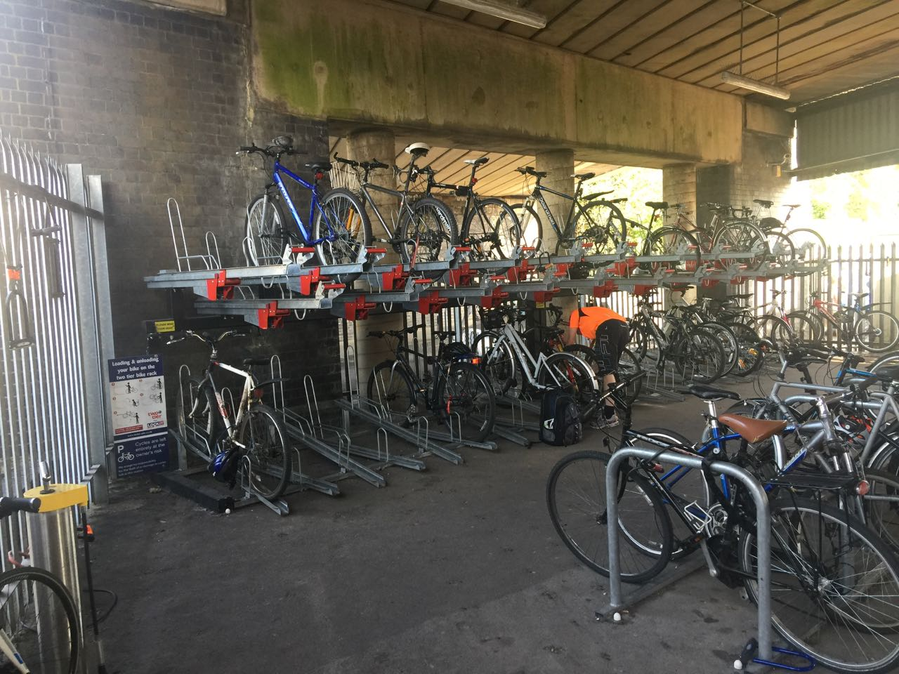 Bicycle Rack at Station