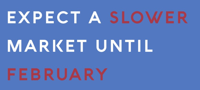 Expect A Slower Market Until February