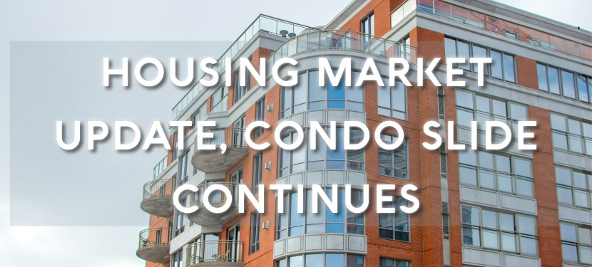 Housing Market Update, Condo Slide Continues