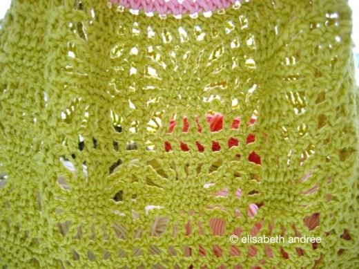 spider and stripes bag - spider stitch pattern