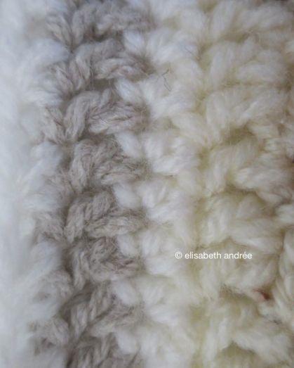 patchwork blanket edge close up