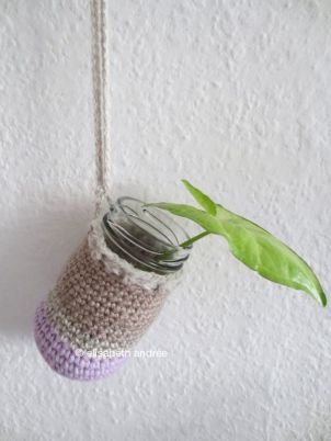 crochet cover for glass jar