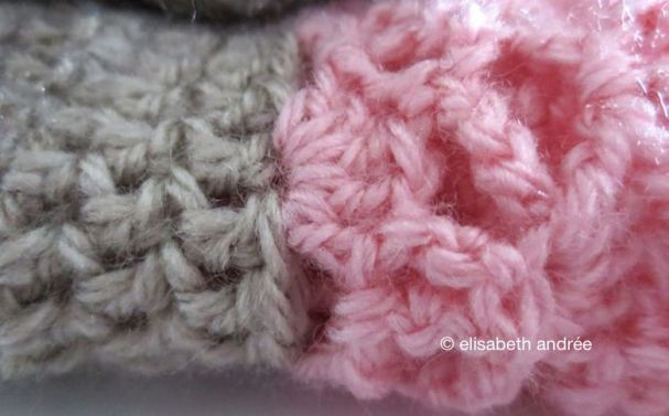 pink and beige close up