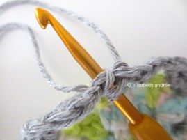 make a slip stitch into the top of the first dc