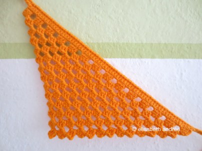 crochet orange flag