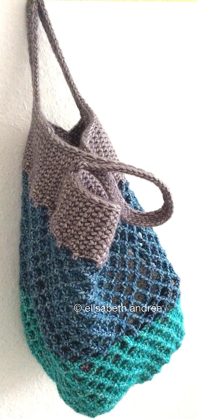 small crochet mesh shopper | elisabeth andrée