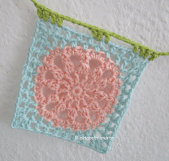 crochet another square pink and blue