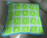 lacy with dots crochet cushion cover