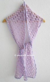 crochet lacy scarf by elisabeth andrée