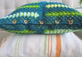rectangular grannies cushion cover button closure