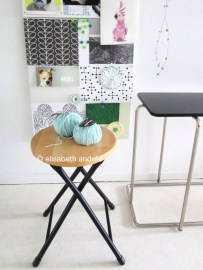 side tables and inspiration board elisabeth andrée