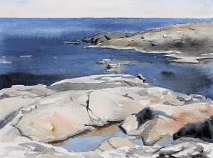 """""""Sillhällorna"""", akvarell av Elisabeth Biström"""