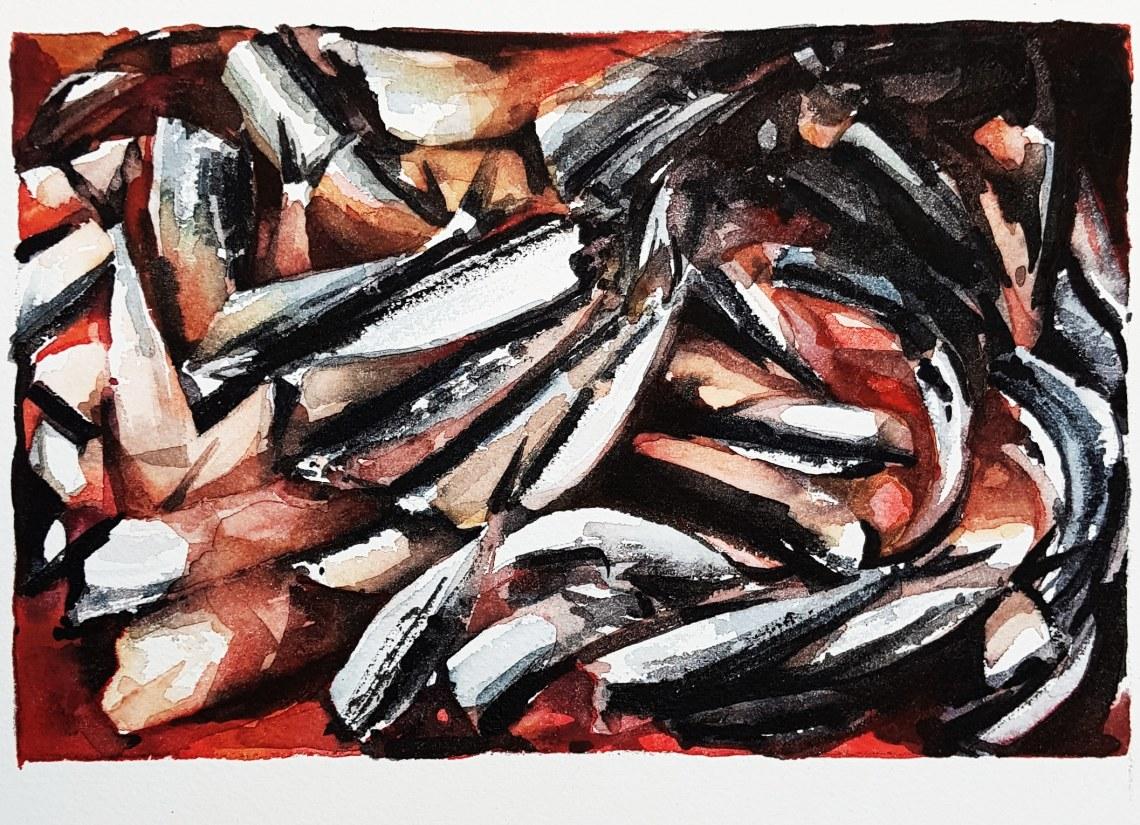 """""""Sista vilan"""", akvarell av Elisabeth Biström"""