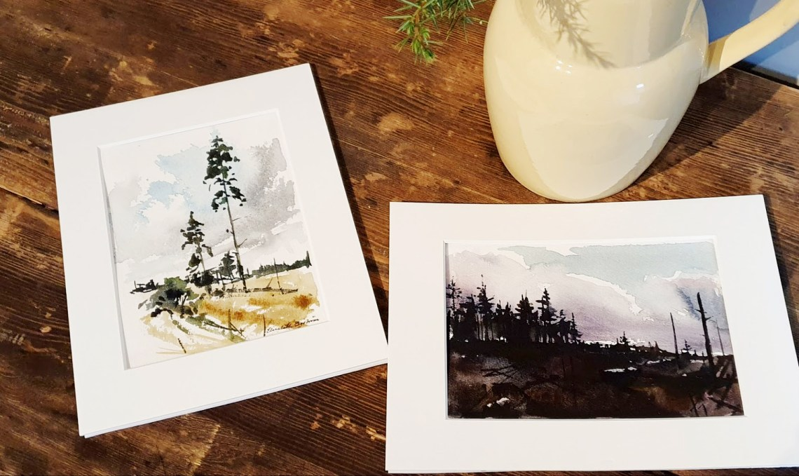 Akvareller av Elisabeth Biström
