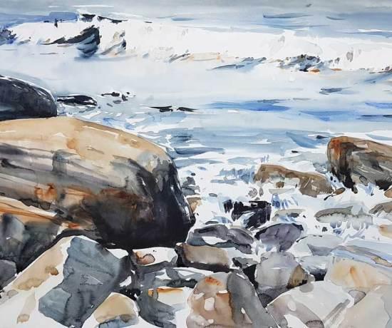 Akvarell av Elisabeth Biström