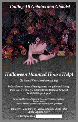 SMCC Fliers For Haunted House
