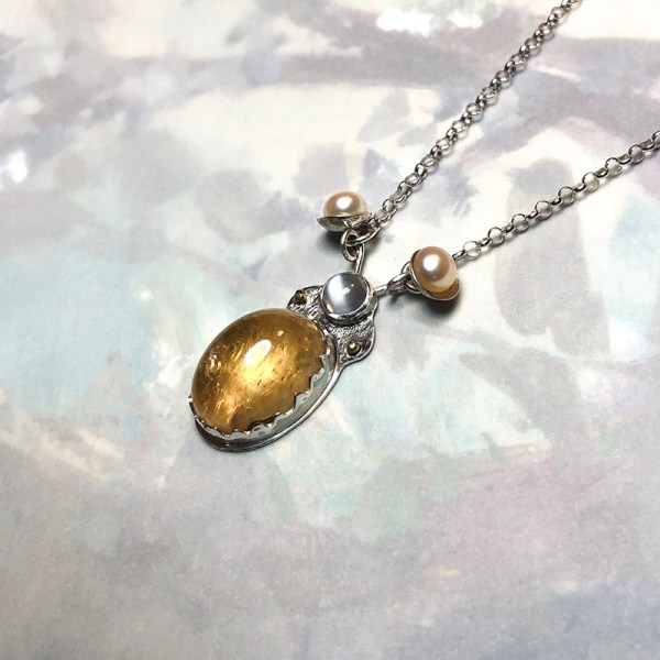 Friendly Beetle Necklace