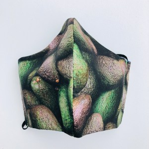 Fabric mask avocado, medium size