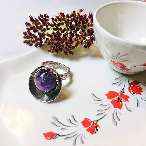 Ring Purple Deco