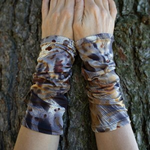 wrist warmers abstract leopard print
