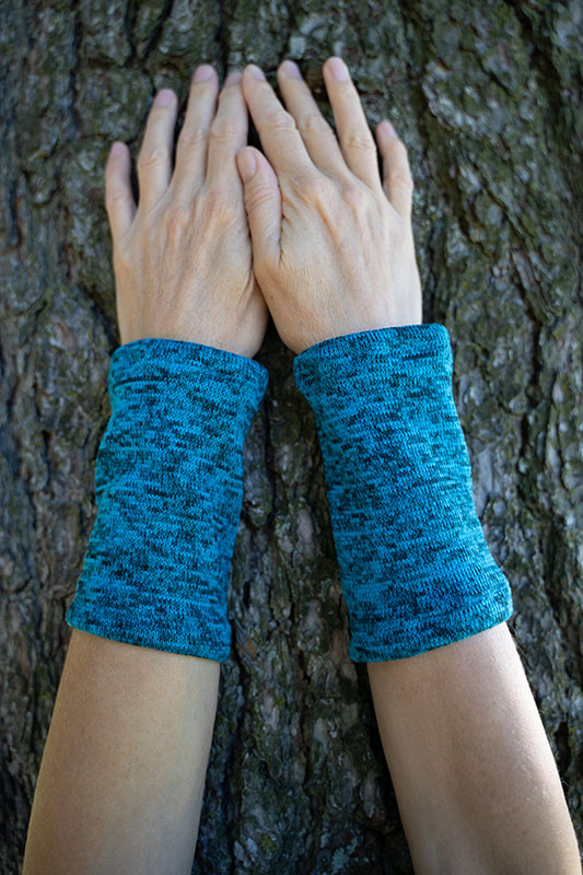 wrist warmers turquoise:blue