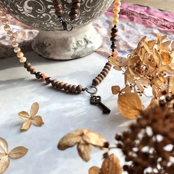Necklace Vintage Key Deco