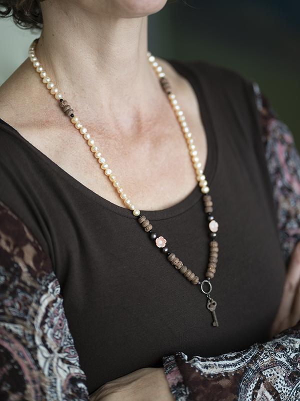 Necklace Vintage Key wearing