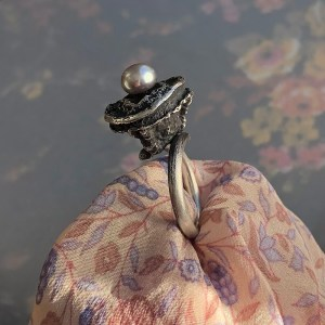 Ring Seedpod With Grey Pearl