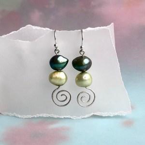 Earrings Green Sparkle
