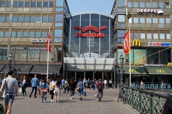 Skjutdramat skedde alldeles intill köpcentrat Nordstan i centrala Göteborg. Bild: nordstan.se
